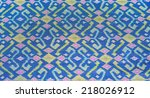 thai pattern on cotton fabrics... | Shutterstock . vector #218026912