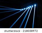 vector stage spotlight with... | Shutterstock . vector #218038972