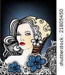 floral girl | Shutterstock .eps vector #21805450