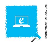 beautiful netbook web icon | Shutterstock .eps vector #218059228