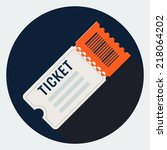 vector ticket icon | Shutterstock .eps vector #218064202
