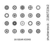 gear icons set.   Shutterstock .eps vector #218072362