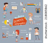 back to school vintage... | Shutterstock . vector #218085862