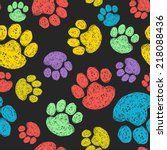 cute seamless pattern with... | Shutterstock .eps vector #218088436