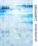 technology vector background... | Shutterstock .eps vector #218094385