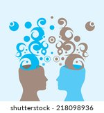 vector illustration of two... | Shutterstock .eps vector #218098936