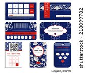 set of loyalty cards.beautiful... | Shutterstock .eps vector #218099782