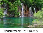 landscapes from the plitvice... | Shutterstock . vector #218100772