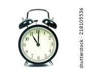 alarm clock on white background.... | Shutterstock . vector #218105536