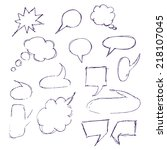 sketch hand drawn bubble speech ...   Shutterstock .eps vector #218107045