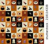 background with halloween... | Shutterstock .eps vector #218114338