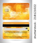templates of credit cards... | Shutterstock .eps vector #218121022