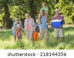 multi generation family... | Shutterstock . vector #218144356