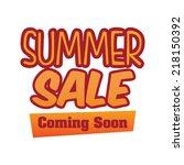 summer sale graphic design  ... | Shutterstock .eps vector #218150392