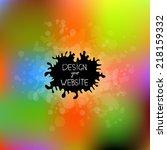 blurred background. unfocused... | Shutterstock .eps vector #218159332