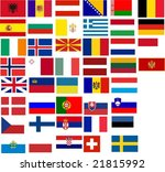 flags of all european country....   Shutterstock .eps vector #21815992