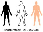 full length front view of a... | Shutterstock .eps vector #218159938