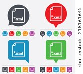file document icon. download... | Shutterstock .eps vector #218161645