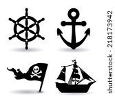 boat graphic design   vector... | Shutterstock .eps vector #218173942