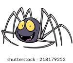 Vector Illustration Of Spider...