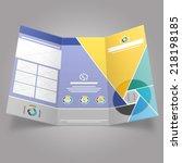 shutter trifold brochure...   Shutterstock .eps vector #218198185