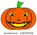 pumpkin for halloween | Shutterstock . vector #218199928