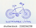 bicycle illustration  symbol of ... | Shutterstock . vector #218236258