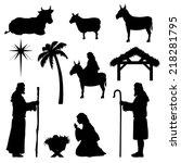nativity scene icons. very easy ... | Shutterstock .eps vector #218281795