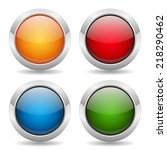 colorful round buttons with... | Shutterstock .eps vector #218290462