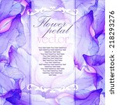 Watercolor Card With Purple...