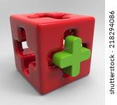 medical cube | Shutterstock . vector #218294086