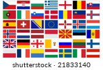 Set Of All European  Flags...
