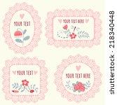 set of vintage frames for text... | Shutterstock .eps vector #218340448