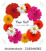 colorful flowers  illustration  ... | Shutterstock .eps vector #218346082