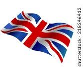 united kingdom flag 3d. great... | Shutterstock .eps vector #218346412
