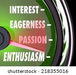 enthusiasm measurement on a... | Shutterstock . vector #218355016