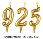 candles number nine hundred... | Shutterstock . vector #218357512