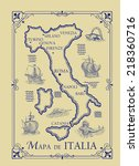 map of italy | Shutterstock . vector #218360716
