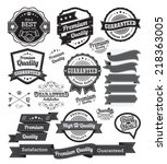 set of vintage badges and label ... | Shutterstock .eps vector #218363005