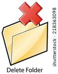 remove or delete folder or file ...   Shutterstock .eps vector #218363098