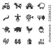 Happy Farm Silhouette Icons