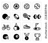 set icon sport | Shutterstock .eps vector #218385946