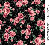 pattern of rose  | Shutterstock .eps vector #218389912