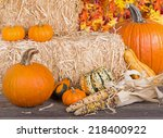 Autumn Arrangement Of Pumpkins...