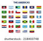 flags of the americas   Shutterstock .eps vector #218403748