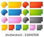 set of stickers | Shutterstock .eps vector #21840508