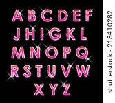 abs neon letters   Shutterstock .eps vector #218410282