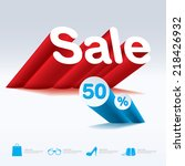 sale with percent discount | Shutterstock .eps vector #218426932