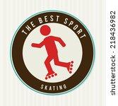 sports design over white... | Shutterstock .eps vector #218436982