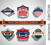 american football emblems | Shutterstock .eps vector #218472166